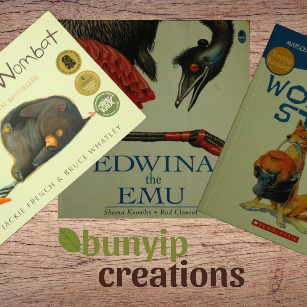 Children's Books featuring Australian Animals, Edwina the Emu, Wombat Stew and Diary of a Wombat