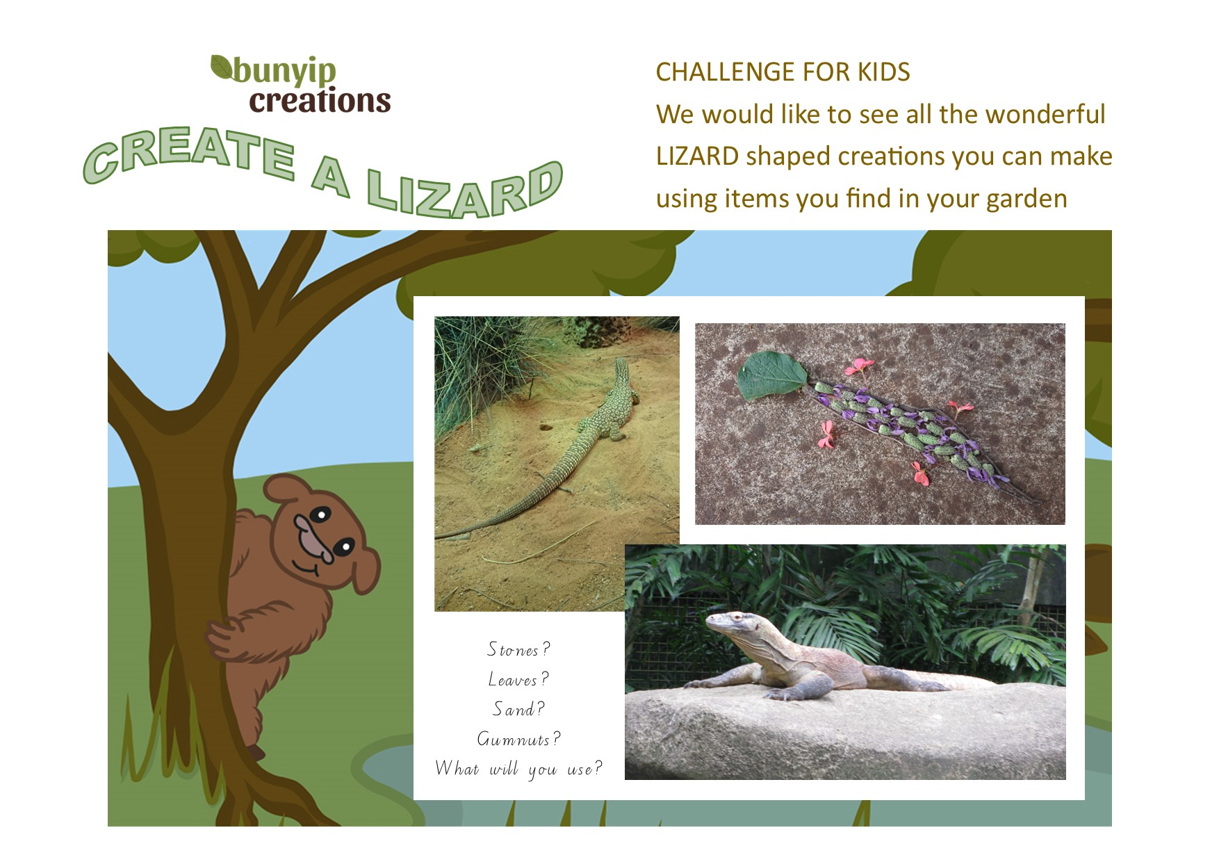 CREATE A LIZARD CHALLENGE